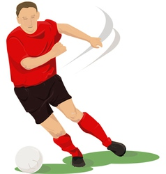 Football player in red vector