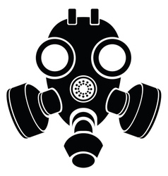 Silhouette of gas mask vector