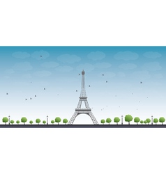 Eiffel tower with blue sky vector