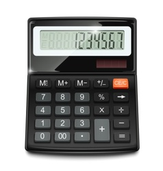 Electronic calculator vector
