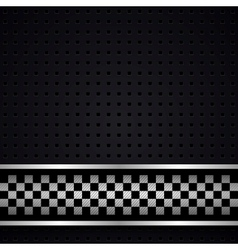 Structured dark metallic perforated for race sheet vector