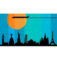World cities vector