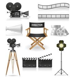 Set icons cinema 04 vector