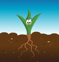 Plant happy vector