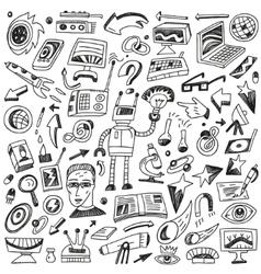 Science - doodles set vector
