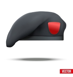 Military black beret special forces vector