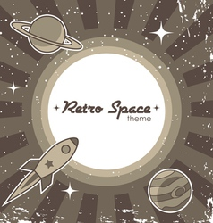 Retro space theme vector