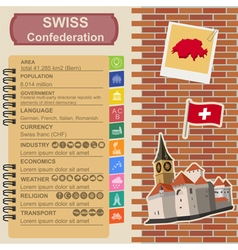 Switzerland infographics statistical data sights vector