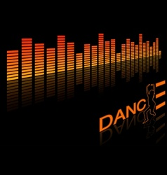 Dance equalizer vector