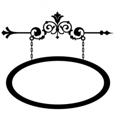 Wrought iron shop sign vector
