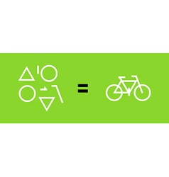 Bicycle as a result of geometric shapes vector