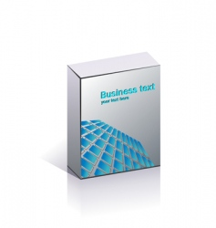 Blank business packing vector
