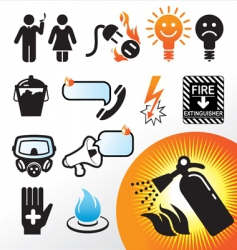 Symbol extinguisher vector