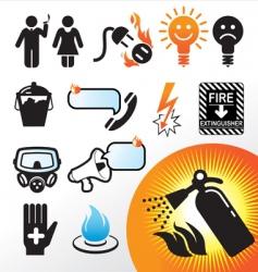 Symbol extinguisher vector