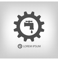 Grey plumbing logo vector