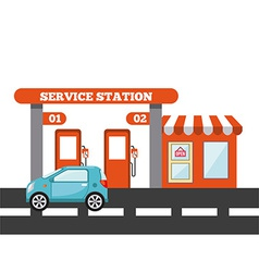 Service station vector