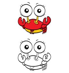 Cartoon crab vector