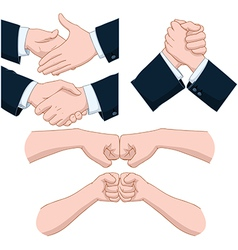 Hand shakes pack vector
