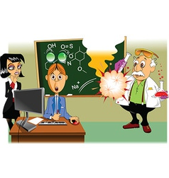 Scientific experiment cartoon vector