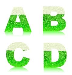 Alphabet green beer abcd vector