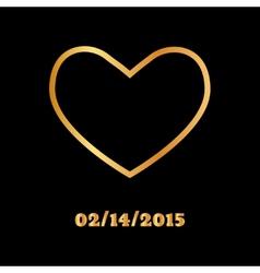 Abstract golden heart icon vector