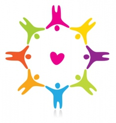 Sign friendship love vector