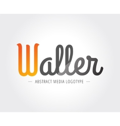 Abstract w character logo template for vector