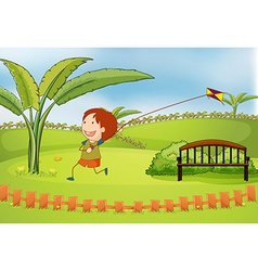 Cartoon kite boy vector