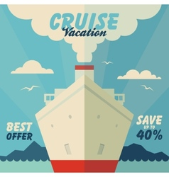 Cruise vacation and travel vector