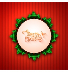 Merry christmas lettering calligraphy greeting vector