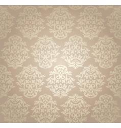 Retro damask wallpaper vector