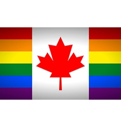 Canada gay flag vector