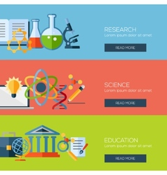 Flat design concepts for research science vector