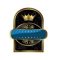 Royal label vector