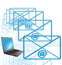 Abstract computer e-mail vector