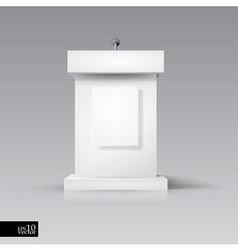 Rostrum-podium with microphone vector