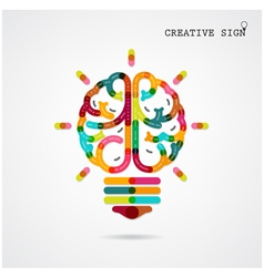 Creative infographics brain function vector