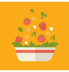 Fresh vegetarian vegetable salad vector
