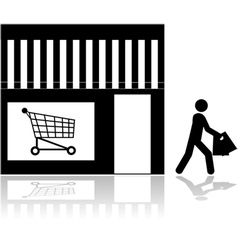 Store front vector