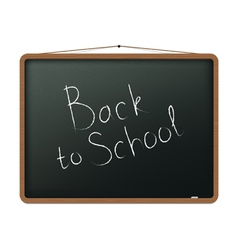 Blackboard with back to school vector