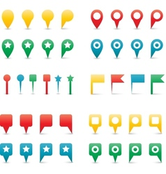 Map pins gradient vector