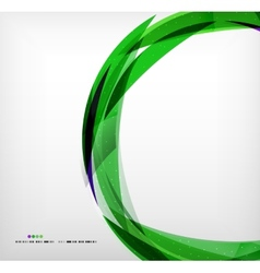 Green ring - business abstract bubble vector