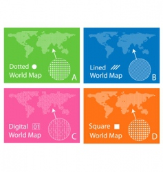 Graphic design map vector