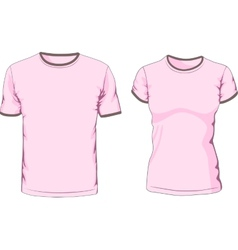 Male and female t-shirts vector