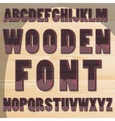 Wooden letters vector