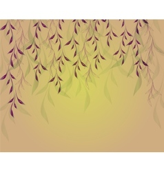 Autumn background with hanging plants and shadows vector