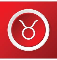 Taurus icon on red vector