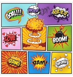 Set of comics speach and explosion bubbles 2 vector