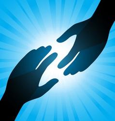 Handshake background vector