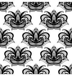 Persian paisleys seamless pattern vector